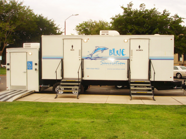 Luxury Portable Bathroom Trailers In El Paso Convenient And Clean Magnificent Bathroom Trailers