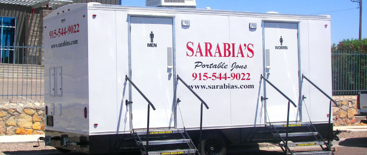 Portable Trailers Work : Portable restroom trailers in el paso providing ideal